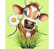 Cute cow has a gift for you Photographic Print