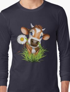 Cute cow has a gift for you Long Sleeve T-Shirt