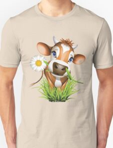 Cute cow has a gift for you Unisex T-Shirt