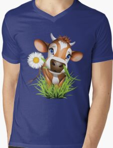 Cute cow has a gift for you Mens V-Neck T-Shirt