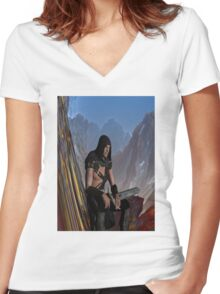Lost Warrior Women's Fitted V-Neck T-Shirt