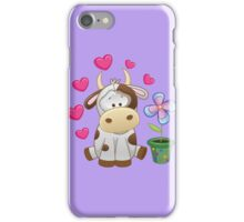 Little cow in love iPhone Case/Skin