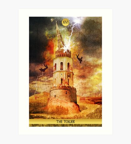 XVI The Tower Art Print