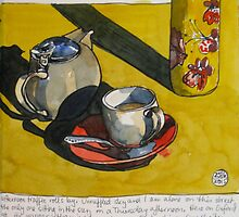 tea and sunshine on oxford street by Evelyn Bach