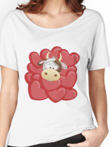 Little calf totally in love Women's Relaxed Fit T-Shirt