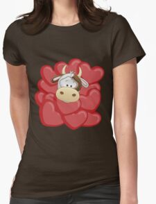Little calf totally in love Womens Fitted T-Shirt