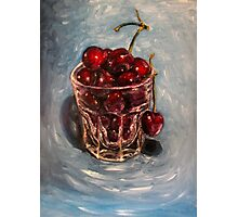 Cherries original oil painting Photographic Print