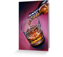 Glass of Wine oil painting Greeting Card