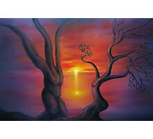 Sunset Dance oil painting Photographic Print