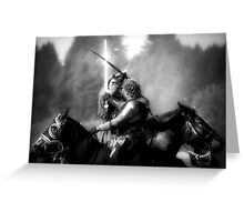Crossed Knights Greeting Card