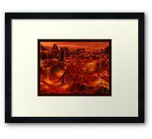 Geyser World Framed Print