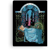 The Sleeping Rose - Blue Dress Canvas Print