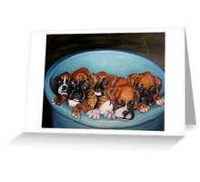 Funny Puppies oil painting Greeting Card