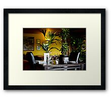 The table is set Framed Print