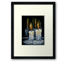 Candles Original oil painting Framed Print