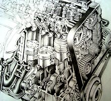 Honda Engine by StephMmm