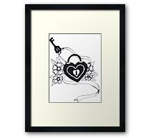 locked love Framed Print
