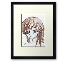 Coloured anime Framed Print