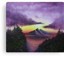Sunset in Mountain oil painting  Canvas Print