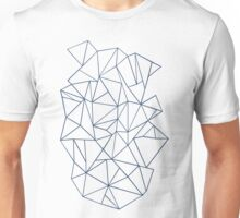 Abstraction Outline Navy Unisex T-Shirt