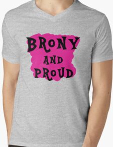 Brony and proud Mens V-Neck T-Shirt