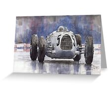 Auto Union Type C 1936 Greeting Card