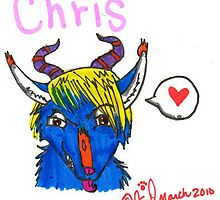 Chris the demon-fox by wolfehguts