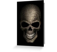 Decorated Dark Sugar Skull Greeting Card