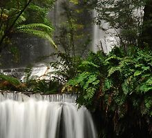 Russell Falls and Horseshoe Falls.......Mount Field National Park by Imi Koetz