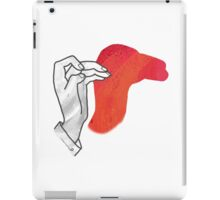 Hand Silhouette Camel Red iPad Case/Skin