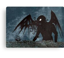 Monster in the Storm Canvas Print
