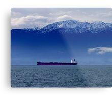 Tanker at Anchor Metal Print