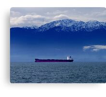 Tanker at Anchor Canvas Print