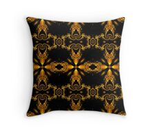 Mandi-series No.III - Spiral Wall Paper in Gold Throw Pillow