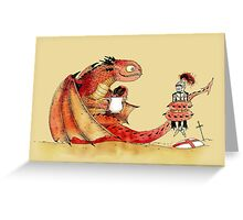 Dragon, tea & Saint George Greeting Card
