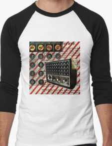 geeky nerdy retro calculator vintage shortwave radio  Men's Baseball ¾ T-Shirt