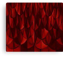 Ruby Geometric Scales Canvas Print