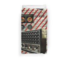 geeky nerdy retro calculator vintage shortwave radio  Duvet Cover