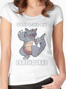 Drop Like An Earthquake - Rhydon Women's Fitted Scoop T-Shirt