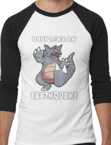 Drop Like An Earthquake - Rhydon Men's Baseball ¾ T-Shirt