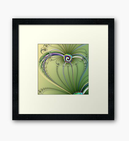 TWISTED HEART Framed Print