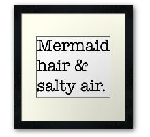 Mermaid hair Framed Print