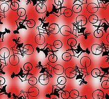 Gingham Girlz on Bikes design by xorbah