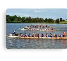 Dragon Boats -- Get set Go Go Go !!! Canvas Print