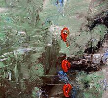 Red Buttons by Magda Smolenska
