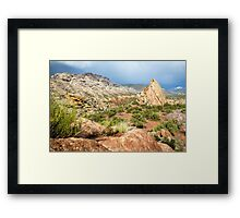 Split Mountain Rainsoaked Framed Print