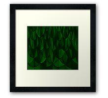 Green Geometric Scales Framed Print