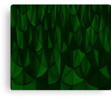 Green Geometric Scales Canvas Print