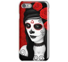 Day of the Dead Girl with Red Roses  iPhone Case/Skin
