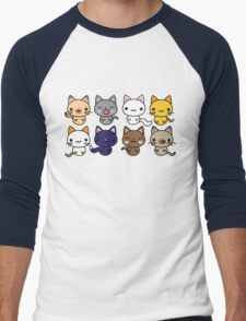 Cute Kitty Cats Men's Baseball ¾ T-Shirt